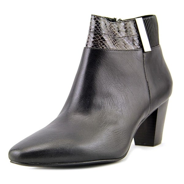 Alfani Womens palessaant Leather Almond Toe Ankle Fashion Boots - 7.5