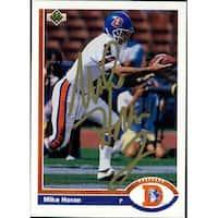 Signed Horan Mike Denver Broncos 1991 Upper Deck Football Card autographed