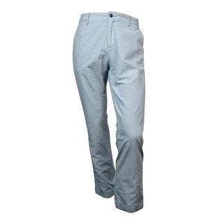 Tommy Hilfiger Men's Custom Fit Pinstripe Pants (34X32, Dusk Blue) - 34X32