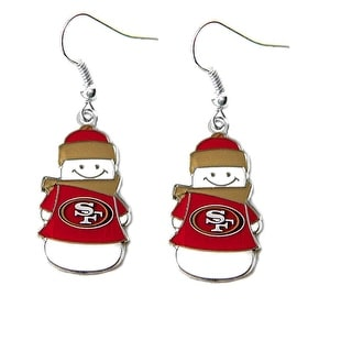 NFL SAN Francisco 49ers Snowman Dangle Logo Earring Set Charm Gift
