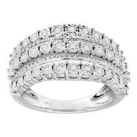 1/5 ct Diamond Layered Band Ring in Sterling Silver