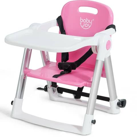 Baby Seat Booster Folding Travel High Chair Safety Belt Tray Dining