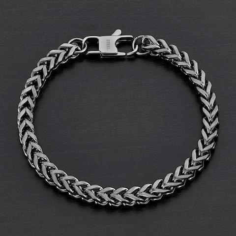 Stainless Steel Franco Chain Bracelet (6mm)