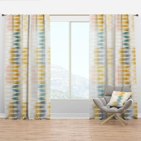 Designart 'Retro Abstract Design VIII' Mid-Century Modern Curtain Panel. Opens flyout.