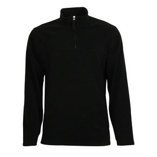 Club Room NEW Black Mens Size Large L 1/2 Zip Fleece Pullover Sweater 386