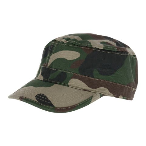 E-Flag Men's Adjustable Camo Army Cadet Cap