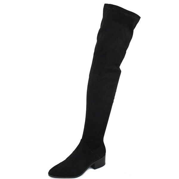 Steve Madden Gabriana Women Round Toe Synthetic Black Over the Knee Boot