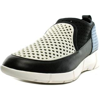Calvin Klein WINONA Women Round Toe Synthetic Black Loafer