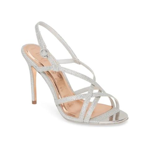 Ted Baker Women's Lurex Theanam Strappy High-heel Sandals Silver