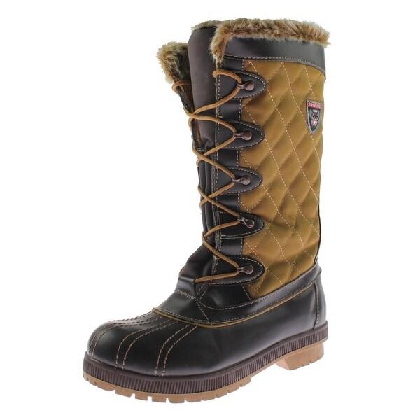 Sporto Womens Camille Rain Boots Mid-Calf Faux Fur - 8.5 medium (b,m)