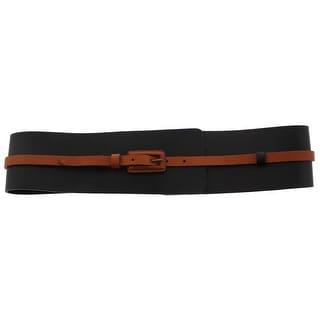 Lafayette 148 Womens Fashion Belt Leather 2-in-1 - L