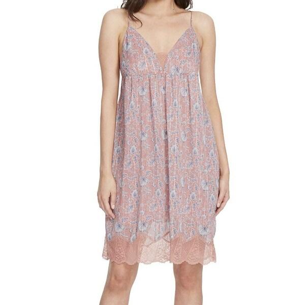 William Rast Pink Womens Size Large L Babydoll Cami Slip Dress