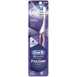Oral-B 3D White Luxe Pulsar Manual Toothbrush, Medium