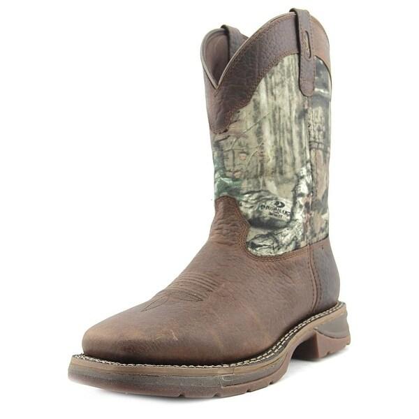 Durango Workin Rebel Men Square Toe Leather Western Boot