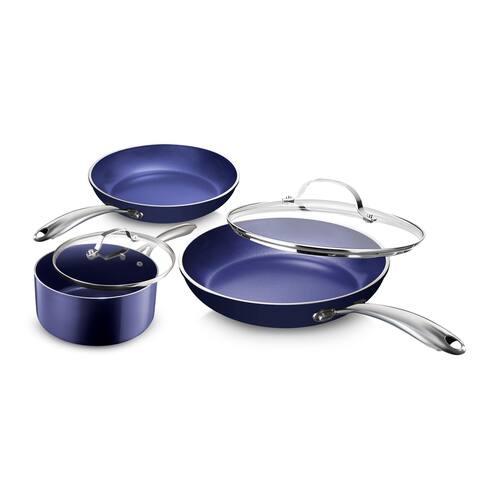Granitestone Blue Non Stick 5pc Cookware Set-PFOA Free