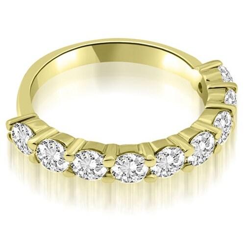 1.80 cttw. 14K Yellow Gold Classic Round Cut Diamond Wedding Band