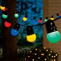 Celebrations 42051-71 LED Globe Light Set, Multicolored, 50 lights, 24-1/2'