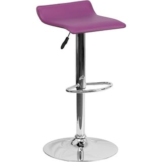 Link to Estella Purple Vinyl Adj Bar/Counter Stool Similar Items in Dining Room & Bar Furniture