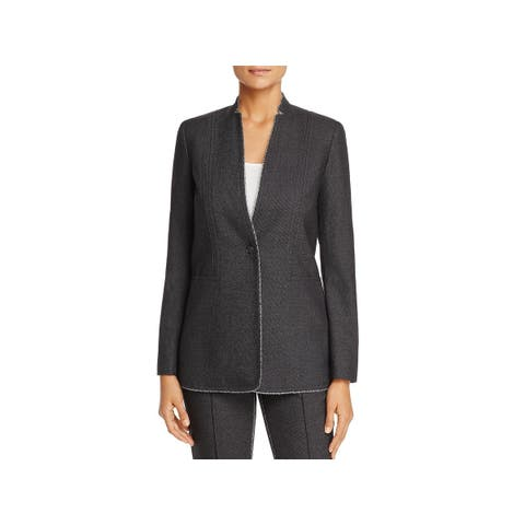 T Tahari Womens Bowen One-Button Blazer Office Wear Lightweight