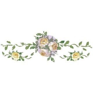 "Prima Marketing Dresser Ups Transfer-Small Yellow Roses, 13""X4.5"""