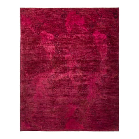"""Vibrance, One-of-a-Kind Hand-Knotted Area Rug - Pink, 8' 0"""" x 10' 0"""" - 8' 0"""" x 10' 0"""""""