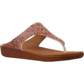 00d2fc0831fcc FitFlop Women s Banda II Thong Sandal Nude Quartz PU