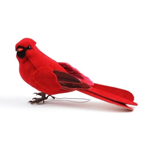 "Midwest Design Bird 5"" Cardinal Male/Wire Red 1pc"