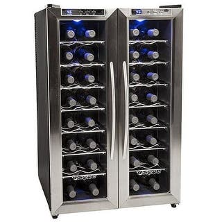 EdgeStar TWR325E 21 Inch Wide 32 Bottle Wine Cooler with Dual Cooling Zones|https://ak1.ostkcdn.com/images/products/is/images/direct/5a86684c89d394d0c770d98d26fd0c52ccbaa1af/EdgeStar-TWR325E-21-Inch-Wide-32-Bottle-Wine-Cooler-with-Dual-Cooling-Zones.jpg?impolicy=medium