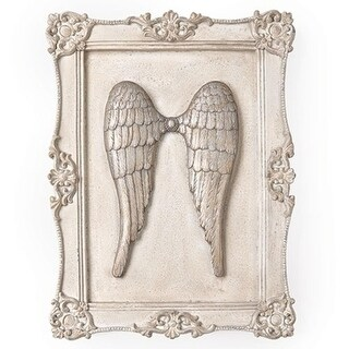 "16"" Religious Angel Wings Decorative Framed Wall Plaque"