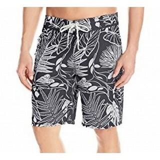 Reyn Spooner NEW Gray Mens Size 38 Floral Drawstring Board Shorts