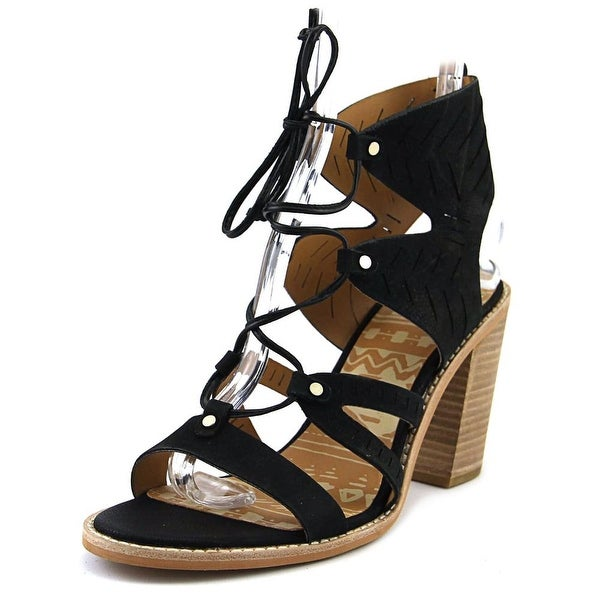 Dolce Vita Luci Women Open Toe Leather Black Sandals