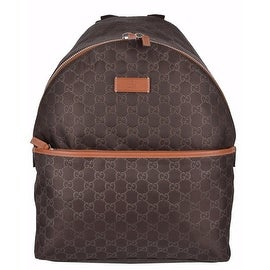 Gucci Men's 190278 Brown Nylon GG Guccissima Rucksack Backpack Purse Bag