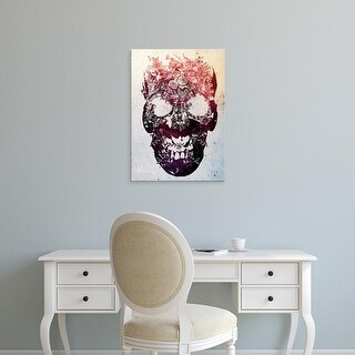 Easy Art Prints Ali Gulec's 'Floral Skull' Premium Canvas Art