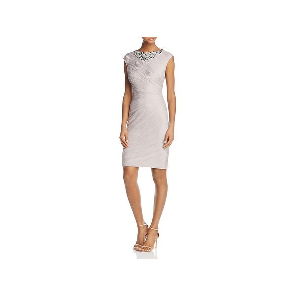 Eliza J Womens Cocktail Dress Beaded Above Knee