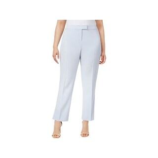 Anne Klein Womens Plus Casual Pants Straight-Leg Comfort Waist