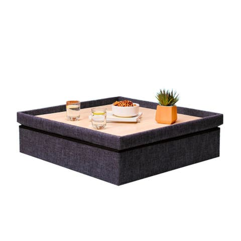 Yogibo Lift Top Coffee Table with Storage Compartments (Dark Gray)