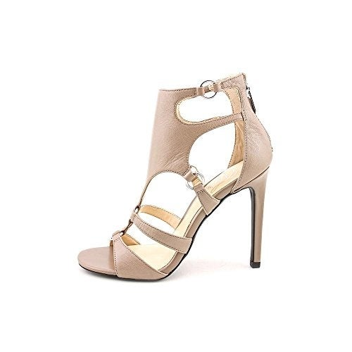 Fergie Womens Talisha Leather Open Toe Ankle Strap Classic Stone Size 9.0