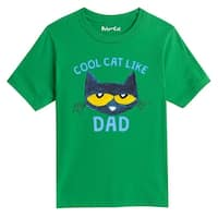Pete The Cat Cool Cat Like Dad - Youth Short Sleeve Tee