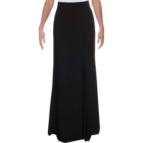 Xscape Womens Maxi Skirt Side SlitS Polyester