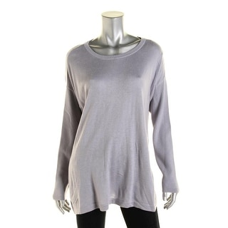 Vince Camuto Womens Crewneck Side Slits Pullover Sweater - L