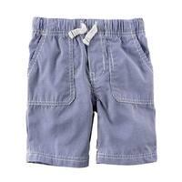 Carter's Little Boys' Pull-On Striped Poplin Shorts, 3-Toddler - Stripe