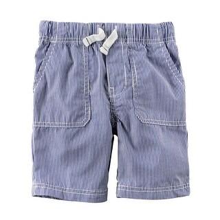 Carter's Little Boys' Pull-On Striped Poplin Shorts, 5-Toddler