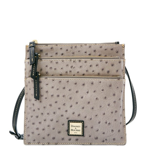 Dooney & Bourke Ostrich North South Triple Zip (Introduced by Dooney & Bourke at $178 in Mar 2016)