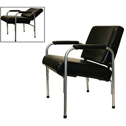 LCL Beauty Automatic Recline Shampoo Chair with Double-Reinforced Steel Frame