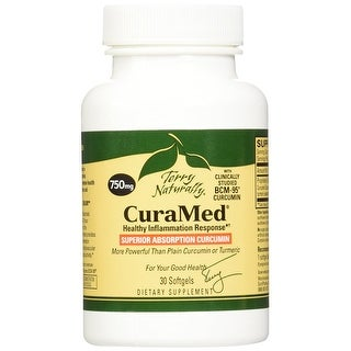 Terry Naturally CuraMed 750 mg - 30 Softgels - Healthy Inflammation Response - Superior Absorption Curcumin - Non-GMO
