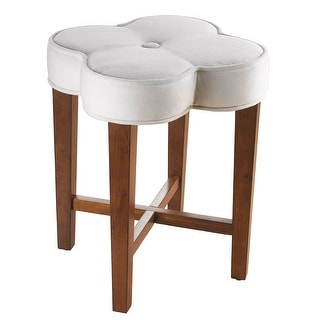 Superb Hillsdale Furniture 50958 Clover 15 Wide Wood Vanity Stool With Upholstered Seat Cherry Overstock Com Shopping The Best Deals On Bar Stools Short Links Chair Design For Home Short Linksinfo