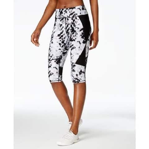 Calvin Klein Women's Performance Printed Black/White Cropped Leggings XS - Black Print