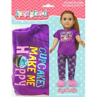 Springfield Collection Cupcakes Make Me Happy Pjs-Purple