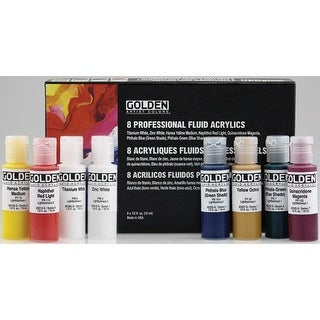 Golden - Fluid Acrylic 8-Color Set