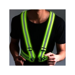 AGPtek Visible Security Reflective Vest Adjustable Lightweight Elastic Weather Proof Material Strip Reflective Vest